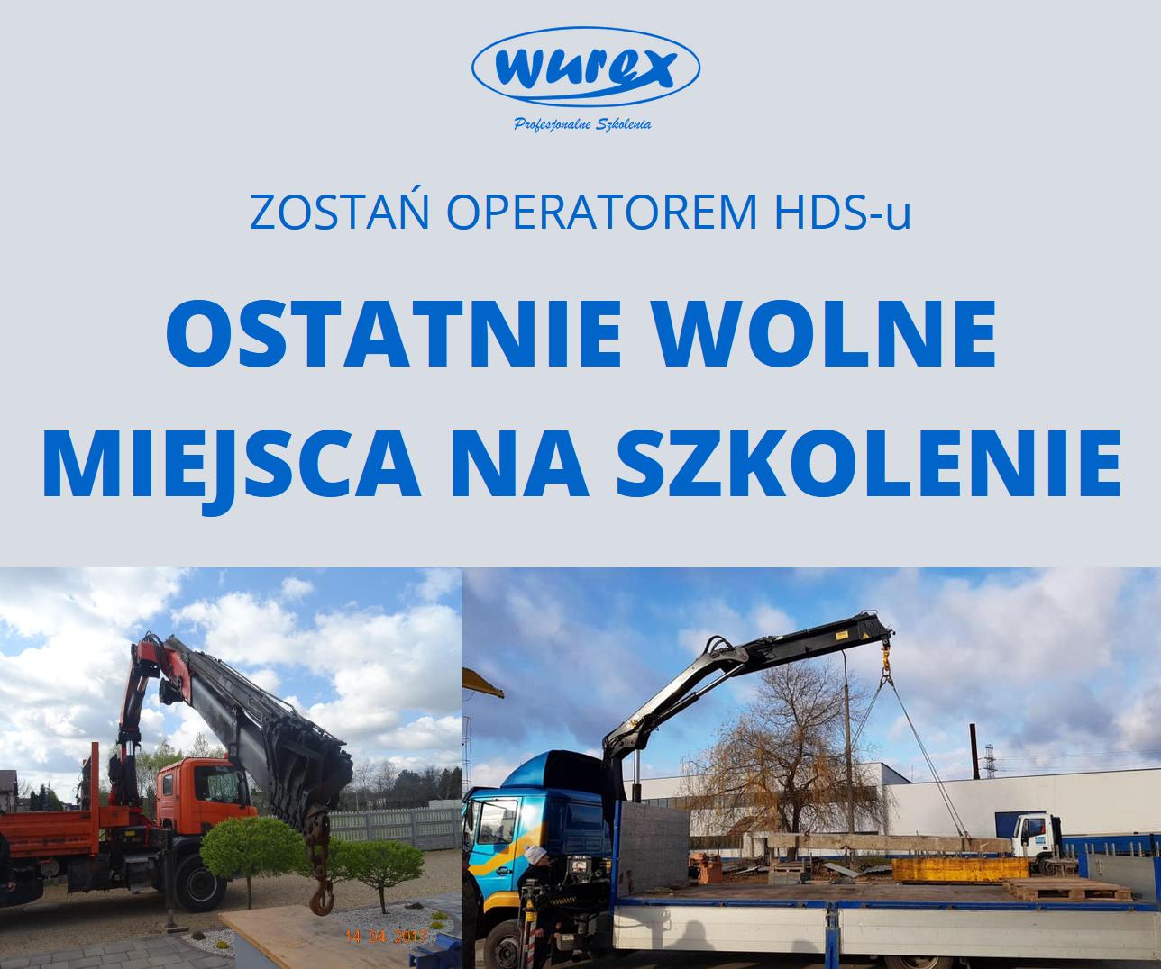 kurs - operator HDSu - szkolenie - Wurex Częstochowa